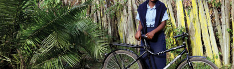 Kenyan Girls Get Bikes for School